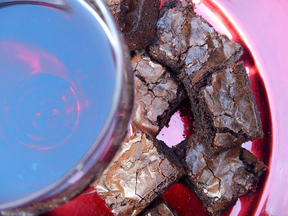 Red Wine Brownies and Wine