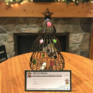 GIFT CERTIFICATES & BASKETS It's time to start holiday gift shopping! Give your friends and loved ones their favorite Mountain View, Beer, or Spirits and some fun accessories in a beautiful gift basket! Not sure of their favorite? Gift certificates always make a great gift!