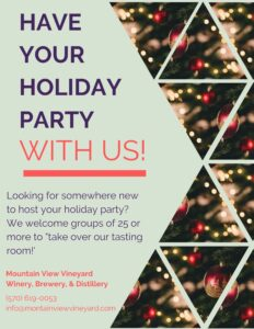 Have your holiday party with us!