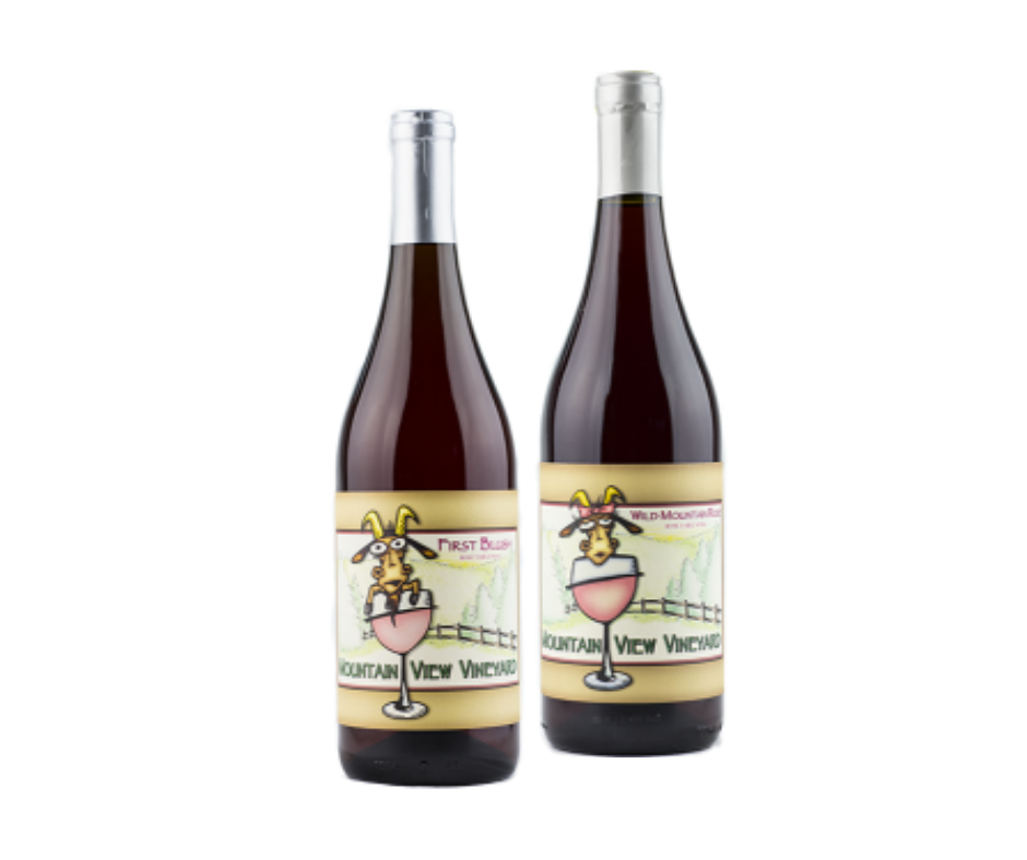 """First Blush & Wild Mountain Rose be the wines of the month at 10% off bottles """"both go great with your holiday meal...turkey with cranberry sauce and ham with pineapple."""""""